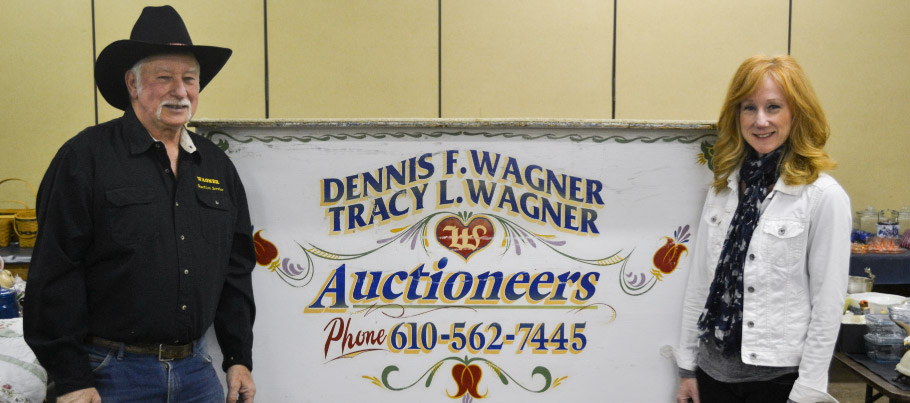 Dennis and Tracy Wagner of Wagner Auctioneers